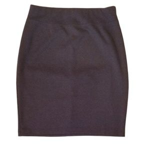 144 Style & CO Gray Stretch Pencil Skirt